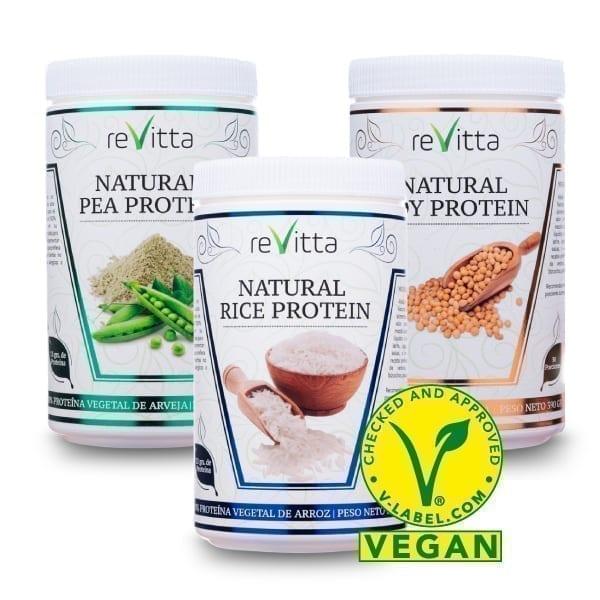 Proteína natural vegana